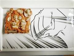 杂粮底虾仁鸡胸肉披萨