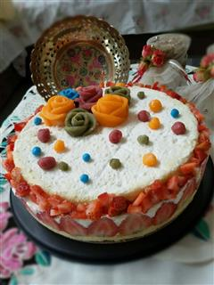 草莓冻芝士蛋糕