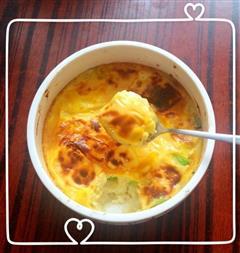 芝士鸡蛋焗牛油果土豆泥