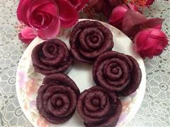 紫薯蔷薇馒头