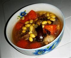 夏季清润汤-木瓜黄豆排骨汤