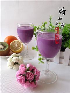自制紫薯奶昔-就爱那一抹紫色