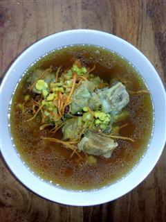 虫草排骨汤