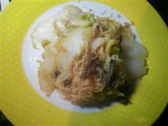 白菜牛肉炒面