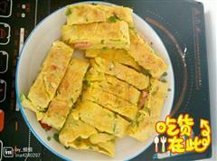 早餐-青椒鸡蛋饼