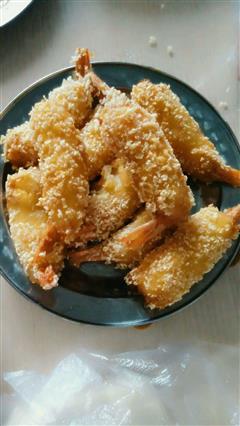 土豆泥黄金虾