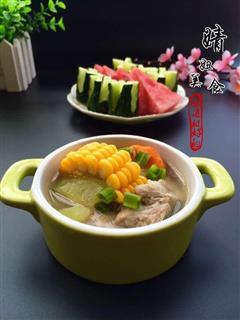 西瓜皮玉米排骨汤