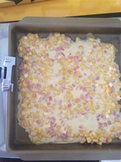 芝士火腿玉米煎饼