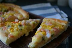 脆皮虾仁什锦披萨