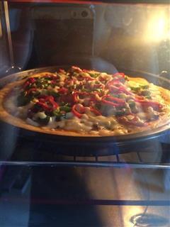 鸡肉培根披萨