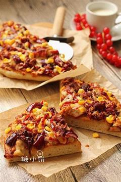 BBQ烤鸡肉披萨