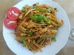 青椒土豆炒面鱼