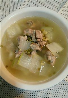 冬瓜绿豆排骨汤