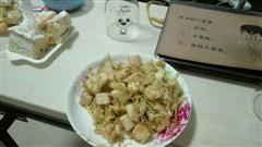 圆白菜炒馒头块