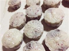 玫瑰冰皮月饼 玫瑰豆沙蔓越莓馅