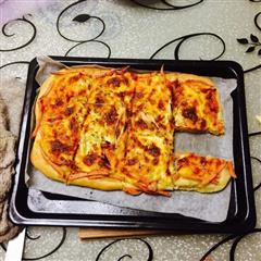土豆泥玉米火腿披萨