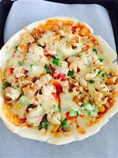 海鲜鱿鱼披萨