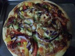 培根香肠披萨饼
