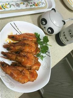 草菌酱油 油焖大虾