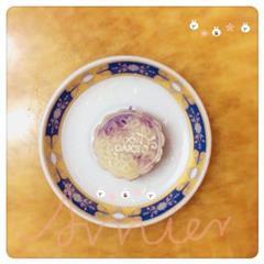 冰皮月饼-紫薯馅