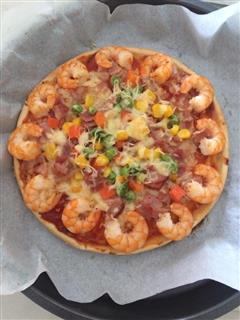 鲜虾培根披萨&奥尔良鸡肉披萨