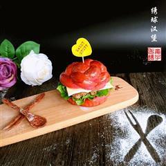 KFC同款玫瑰芝士汉堡