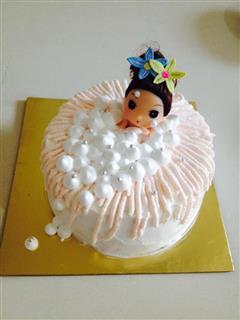 戚风蛋糕迷糊娃娃泡泡浴