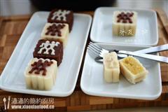双色绿豆蓉冰皮月饼