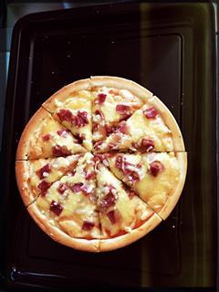 超简单-芝士培根披萨