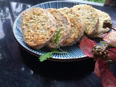 早餐时间-香煎紫米馒头片