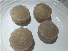 香芋味冰皮月饼