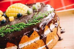 巧克力淋面戚风蛋糕