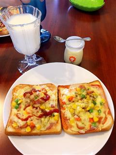 早餐吐司披萨