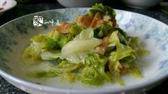 牛心菜炒面筋
