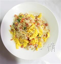 火腿蛋炒饭新手也可以做的早饭