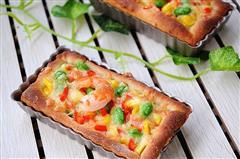 田园鲜虾披萨
