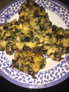 木耳香菇鸡蛋煎饼
