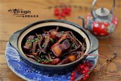 能打动心灵的食物-茶树菇红烧肉