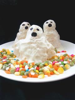 万圣节搞怪餐,酸奶土豆泥