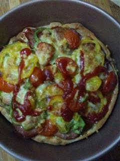 田园培根披萨