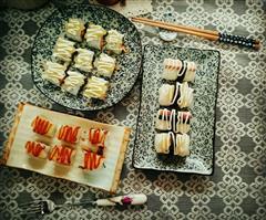 黄桃肉松里卷寿司