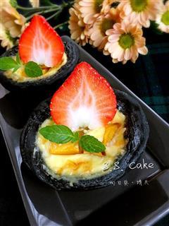 竹炭芒果蛋挞
