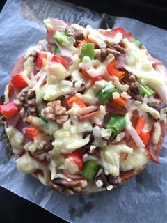 核桃培根披萨