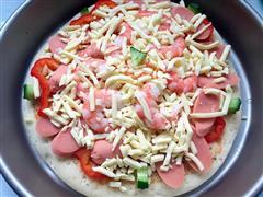 虾仁薄底披萨