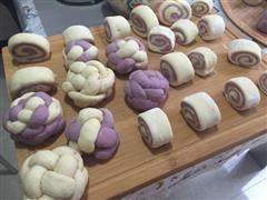 紫薯山药花样馒头
