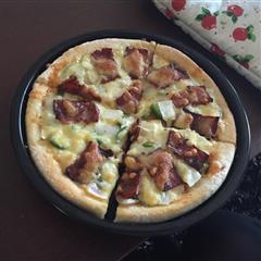自制8寸厚底培根披萨