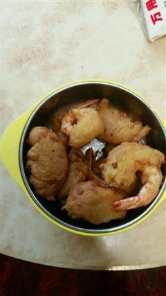 土豆泥炸虾