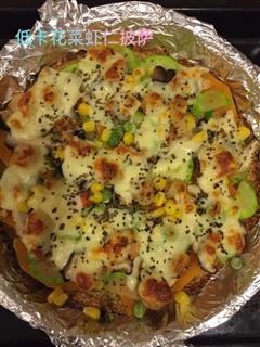 低卡路里花椰菜虾仁披萨