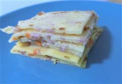 胡萝卜火腿鸡蛋煎饼