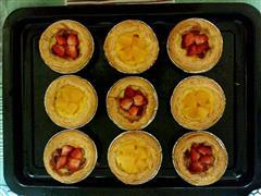草莓黄桃蛋挞